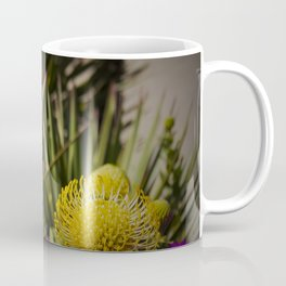 Protea pincushion flowers with vignette Coffee Mug