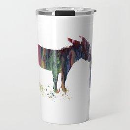 donkey and child art Travel Mug