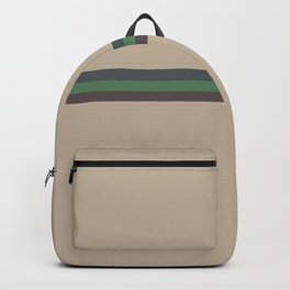 Olivina  - Colorful Abstract Army Stripes Backpack