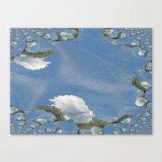 Blue Skies Fractal Canvas Print