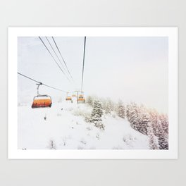 Orange Bubble Art Print