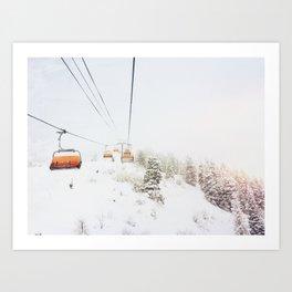 Orange Bubble Art Print
