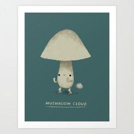 mushroom cloud Art Print