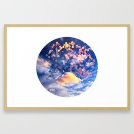 sparkle clouds Framed Art Print