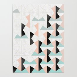 Mixed Material Tiles Poster