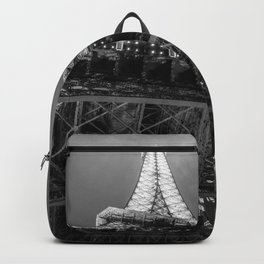 Eiffel Tower 2 (Black and White) Backpack