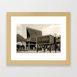 Travel Photography : Tiki Beach in Cayman Islands Framed Art Print