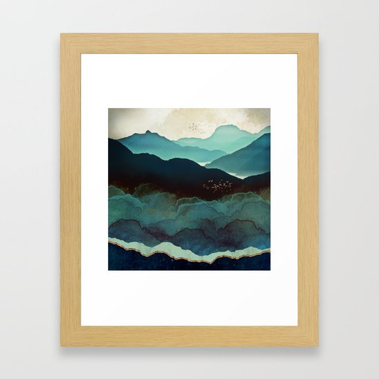Indigo Mountains by spacefrogdesigns