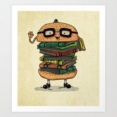 Geek Burger v.2 Art Print