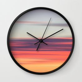 Abstract Sunrise Wall Clock