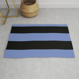 5th Avenue Stripe No. 4 in Lapis and Black Onyx Rug