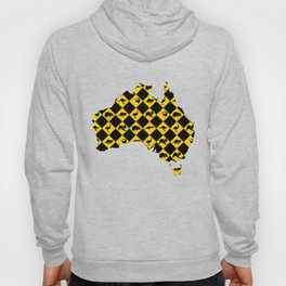 Australian Animals Road Signs Map Hoody