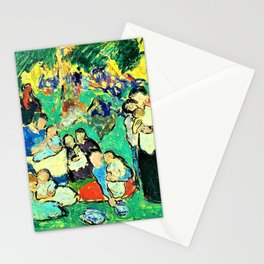 Pablo Picasso - Children in the Luxembourg Gardens - Digital Remastered Edition Stationery Cards