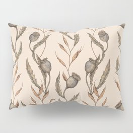 Poppy Pod Pattern Pillow Sham