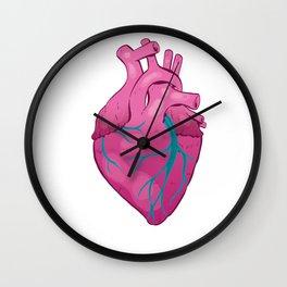 Hearts 01 - Human Heart (Transparent) Wall Clock