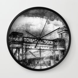 Tobbaco Dock London Vintage Wall Clock