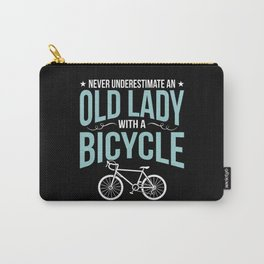Old Lady with a Bicycle Funny Bike Memes Carry-All Pouch