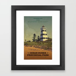 Cedar Dunes Provincial Park Framed Art Print