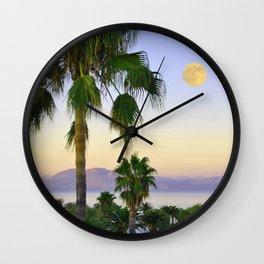 Palms on Full Moon Wall Clock