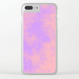 Cotton Candy Clouds - Pink & Purple Clear iPhone Case