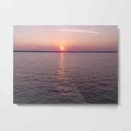 Resevoir Sunset Metal Print