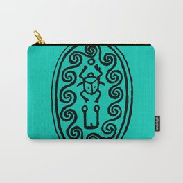 Ancient Egyptian Amulet Turquoise Blue Carry-All Pouch