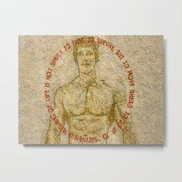 Gym Motivation Arnold Saying Metal Print