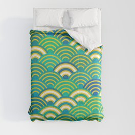 abstract scales simple Spring Nature background with japanese circle Comforters