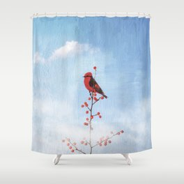 Holly Berry Heaven Shower Curtain