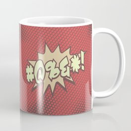 Mild profanity RETRO RED / Cartoonish anger Coffee Mug