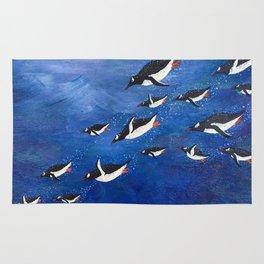 Flock of Penguins Rug