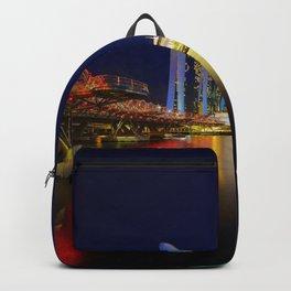 Helix bridge & Marina bay sands at night Backpack