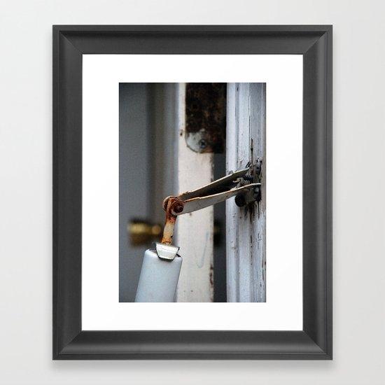 hinge bird Framed Art Print
