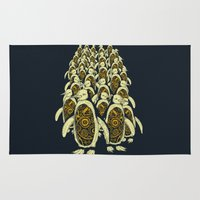 penguins Area & Throw Rugs featuring penguins by Kiryadi