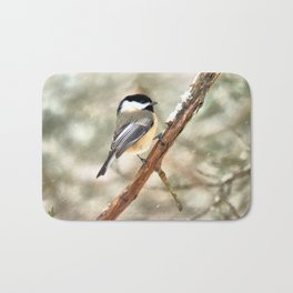 Clinging Chickadee Bath Mat