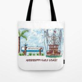Mississippi Gulf Coast Tote Bag