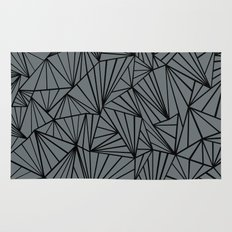 Ab Fan Grey and Black Rug