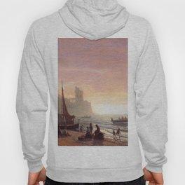 The Fishing Fleet 1862 By Albert Bierstadt | Reproduction Painting Hoody