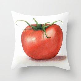 Tomato Watercolor Throw Pillow