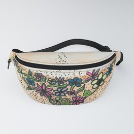 flowers have hair Fanny Pack
