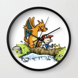 Calvin & Chrizard Wall Clock