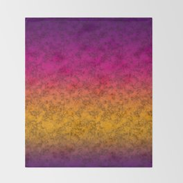 Yellow-purple marble Throw Blanket