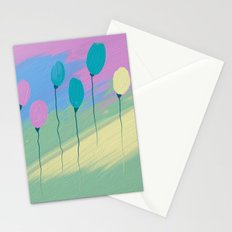 colored balloons Stationery Cards