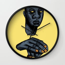 2020 Image of Face And Hands by Marcellous Lovelace Wall Clock