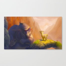 The goat and the troll Canvas Print