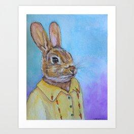 Hey Bunny Art Print