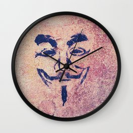 Guy Fawkes Stencil Wall Clock