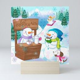 Snowmen Winterland Mini Art Print