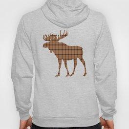 Plaid Moose: Brown Hoody
