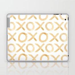 XOXO in Coffee Laptop & iPad Skin